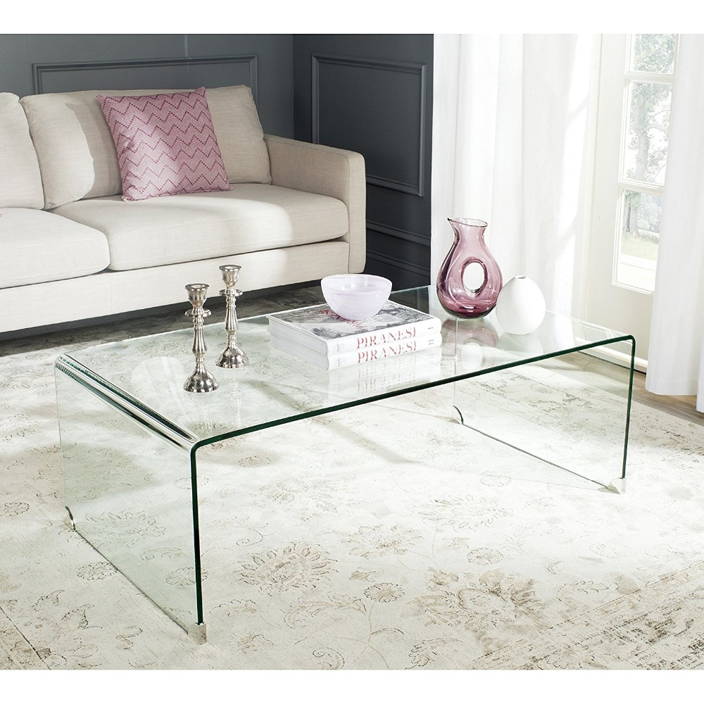 wholesale acrylic Waterfall Console coffee Table desk