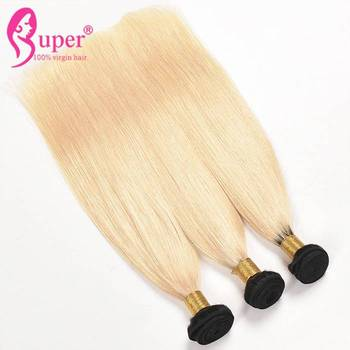 Wholesale 10a Brazilian Straight Body Wave Virgin Hair Ombre Blonde Extensions With Black Roots