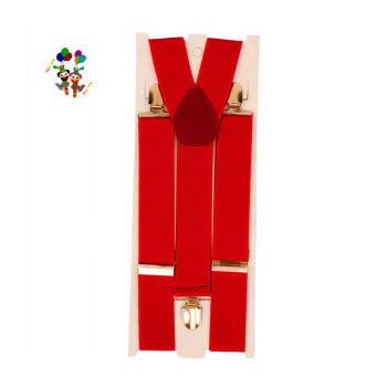 Adult Mens Party Fancy Dress Costume Red Suspenders HPC-1857