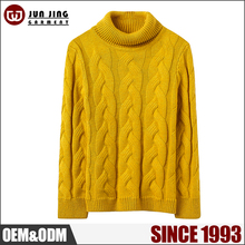 Casual Wearing winter warm high collar pullover women computer knitted sweater