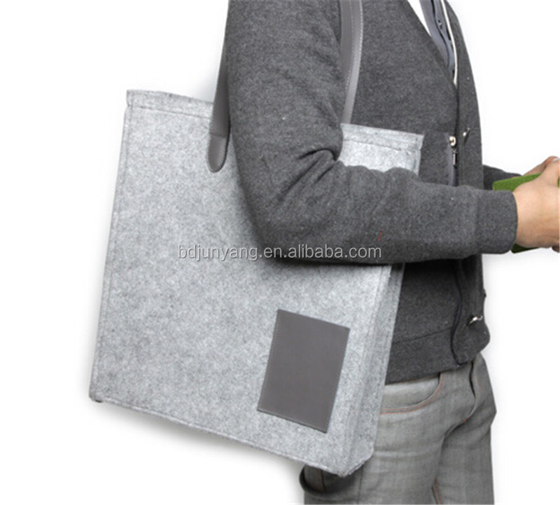 neoprene tote bag/hot sell handbags/felt bags for kids for macbook pro retina