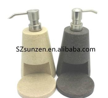 2020 Hot Sale New Design Polyresin Sandstone Kitchen Use Bathroom Bath Set  Liquid Soap Dispenser With Sponge Holder - Buy Resin Bathroom Set,Soap ...