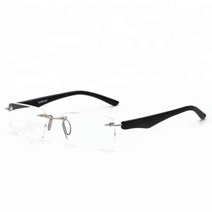 JH Ultralight Prescription Eyeglasses Anti Glare Mens Rimless Reading Glasses
