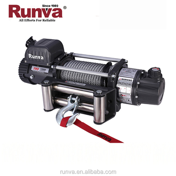 Runva Hot selling CE Approved Truck&Suv wireless remote control 12000 lbs electric winch for Jeep