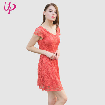 2019 Trending Fashion Hot Coral Modern Sexy Short Dresses For Women