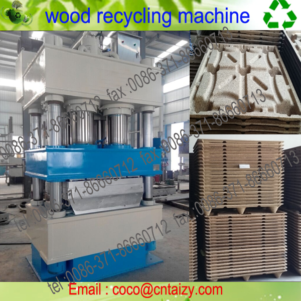 Automatic Presswood Pallet Making Machine for Recycling Wood Wastes Wood Pallet Shaping Machine