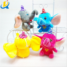Hot sale 20cm kids doll plush and stuffed elephant toys with big ears