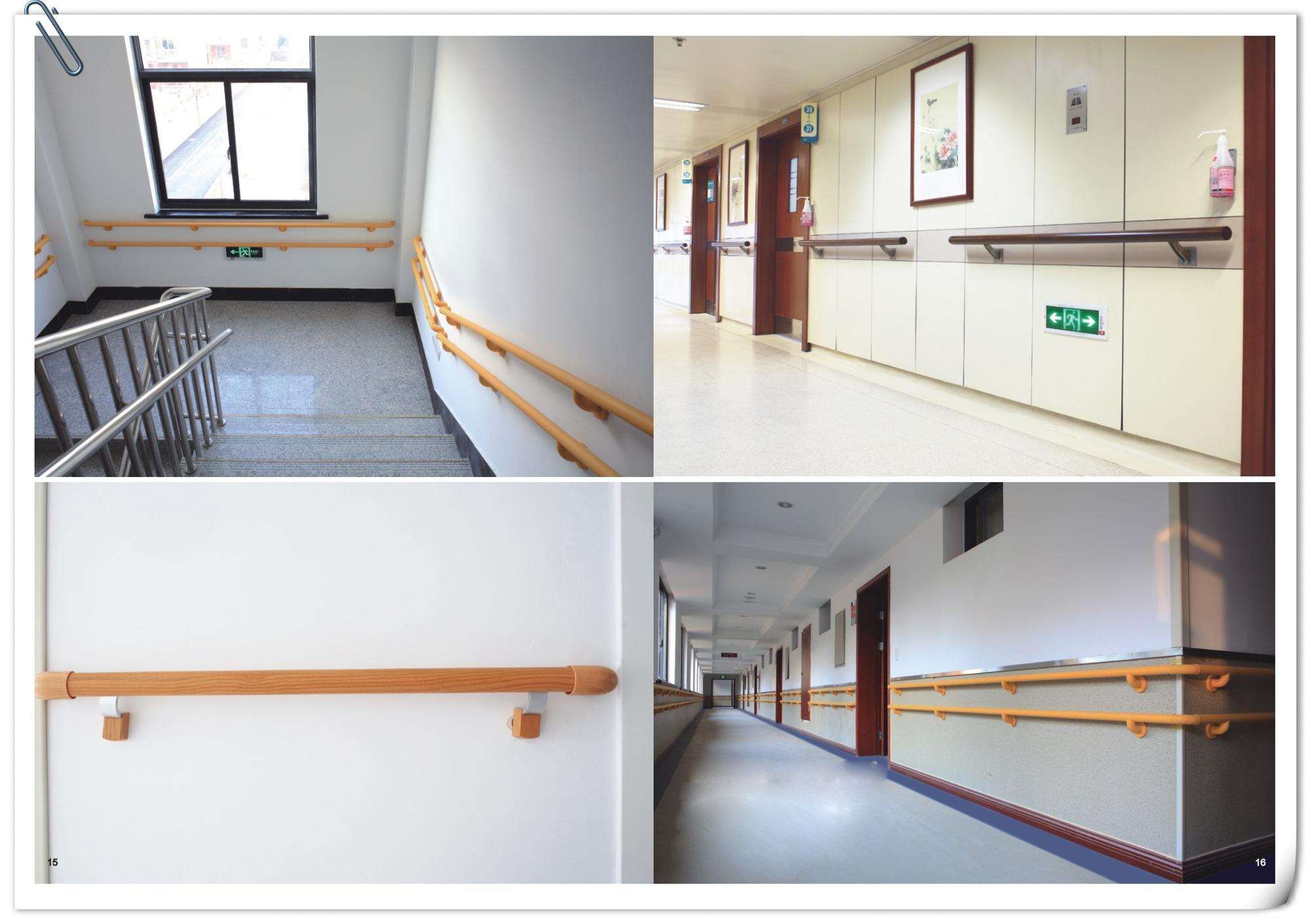 Pvc Hospital Hallway Handrail Aluminum Anti Collision
