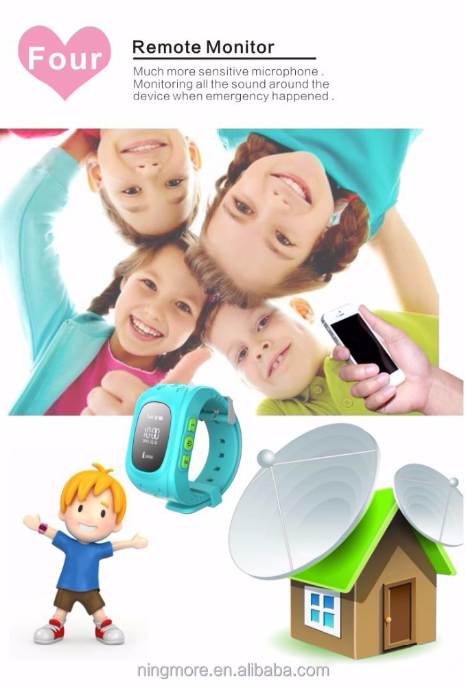 Child Personal Security wrist watch small gps tracking <strong>device</strong> NT18 for kids from shenzhen ningmore company