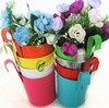 Metal garden decoration hanging plant pots