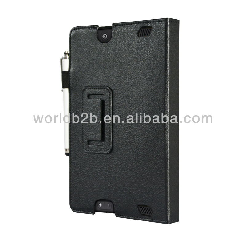 Stand Leather Case for New Kindle Fire HD 7 inch, with touch pen