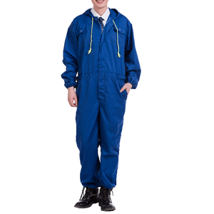 Blue short sleeve workwear plus size overall