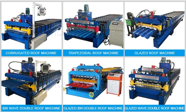 Ibr galvanized steel roofing sheet roll forming machine