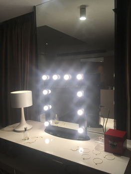 Bathroom Mirror With Led Lights Vanity Girls Lighted Make-up ...