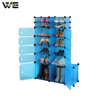 Diy Optional Color Plastic Shoe Cubbies With Door