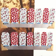 Rad White Cartoon cat child Nail Arts Nail Sticker Waterproof Nail Decal Sticker Gel Polish French