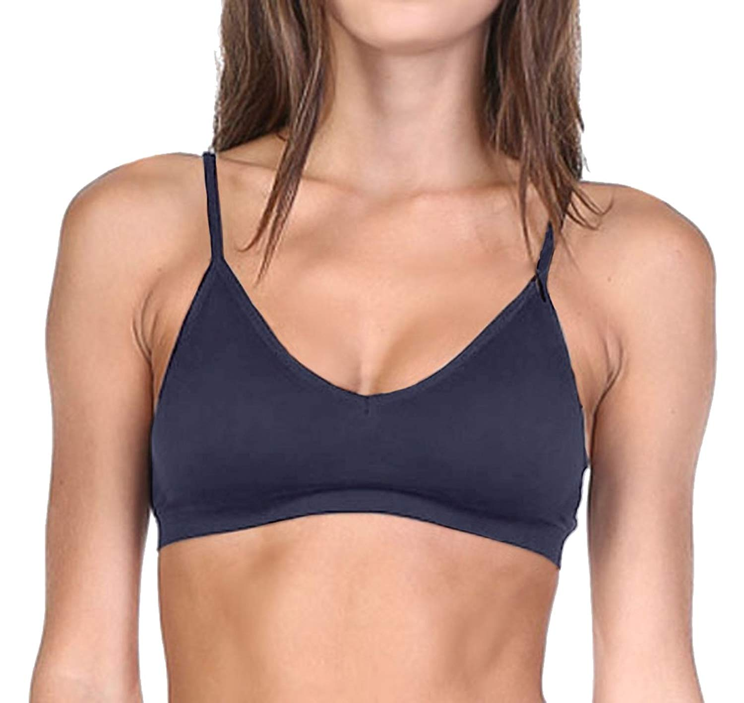 492549a518191 Get Quotations · Belle Donne Sports Bra Seamless Padded Bra Fits 36A 36B -  Adjustable Straps