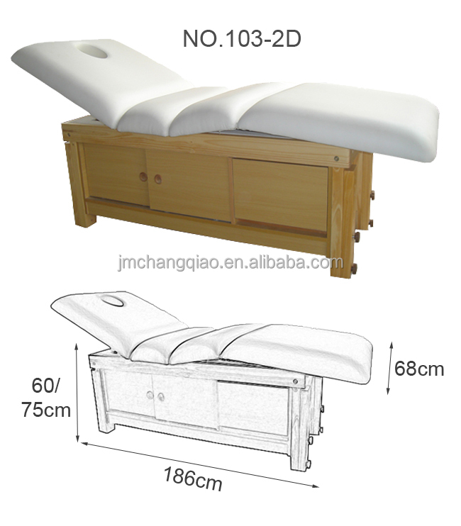electric wooden facial bed 103C-2D