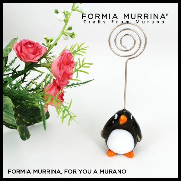 Fancy glass animals penguin design Murano glass party favors