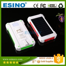 universal external portable usb mobile gift 10000mah solar power bank charger