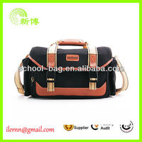 promotional cheap vintage leather camera bag