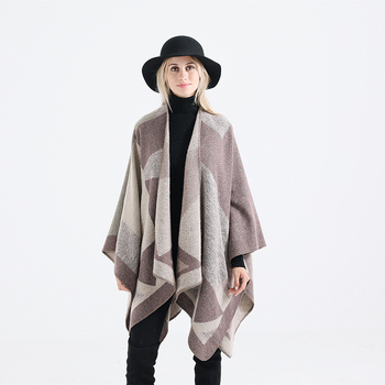 Hot Sale Winter Pashmina Scarf Women Thick Blanket Cashmere Chiffon Shawl