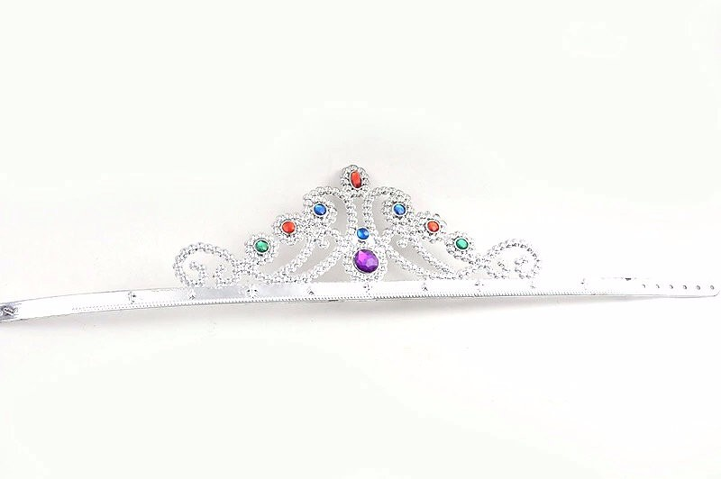 Fashion headwear kid plastic stone feather Princess Tiaras Crowns