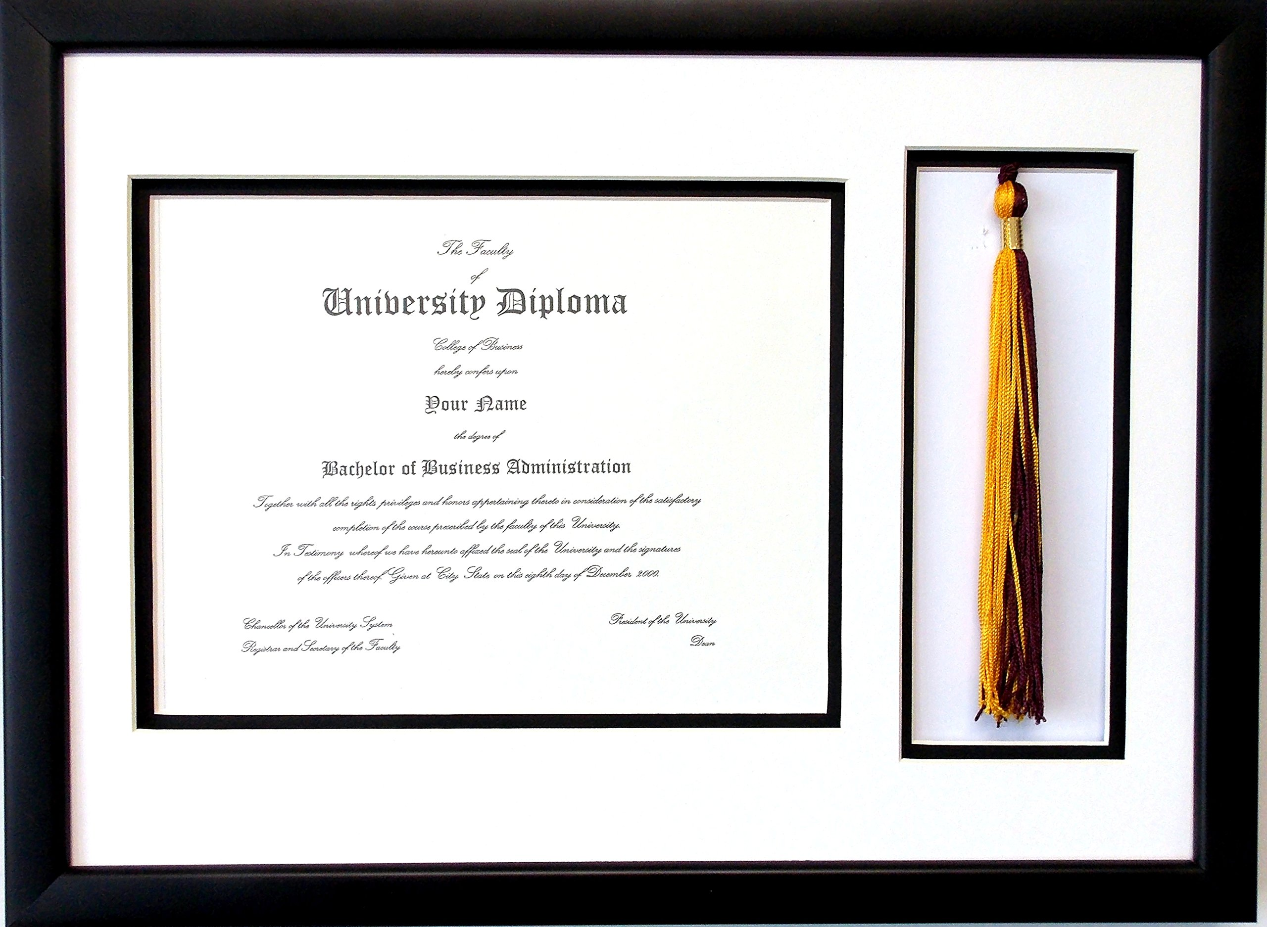 Buy Graduation Certificate Diploma Document 8.5x11 with Tassel ...