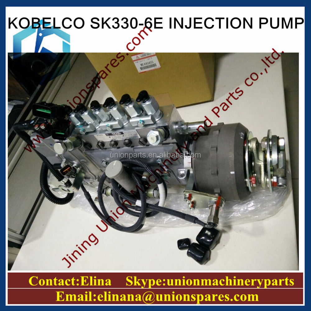 Genuine Kobelco Sk330 6e Injection Pump Me440455 Fuel Pump