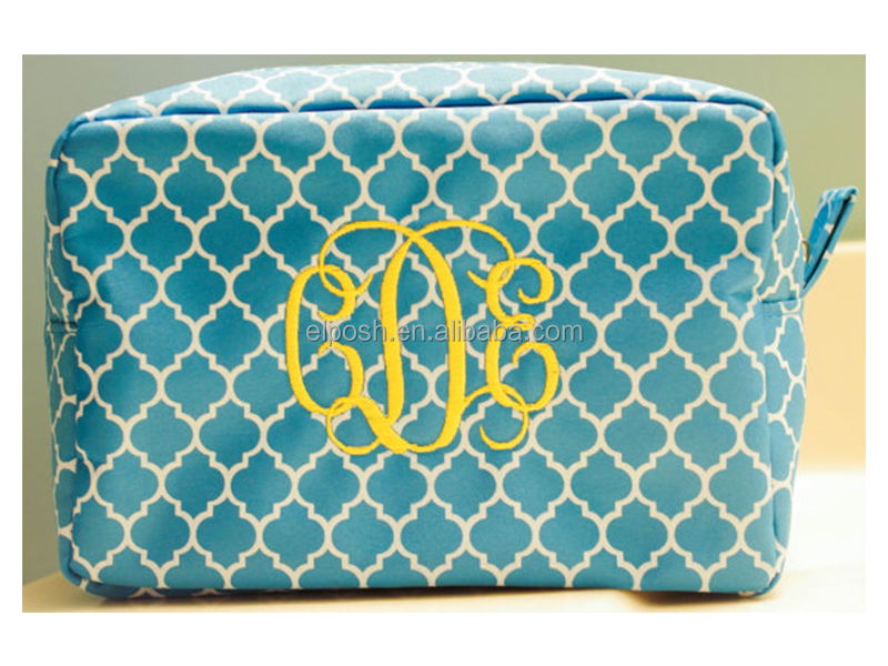 Women's Personalized Monogrammed Toiletry Cosmetic Makeup Bag