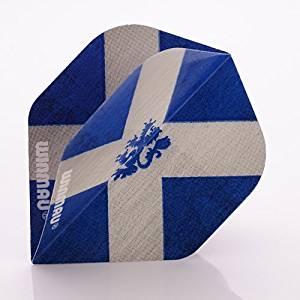 9 x WINMAU MEGA STANDARD DARTS FLIGHTS SCOTLAND FLAG SCOTTISH ( 3 sets ) by PerfectDarts