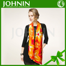 JOHNIN made Custom NO MOQ digital printing fashion summer soft lady long silk scarves