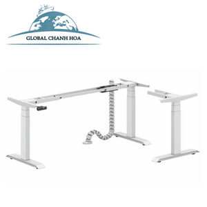 3 Legs Electric Height Adjustable Desk Base & L Shape Height Adjustable Desk With Motor