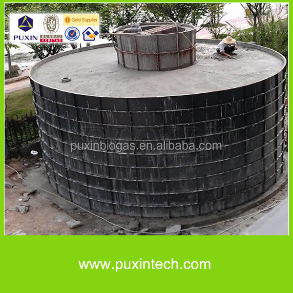 Reusable steel mould for biogas digester
