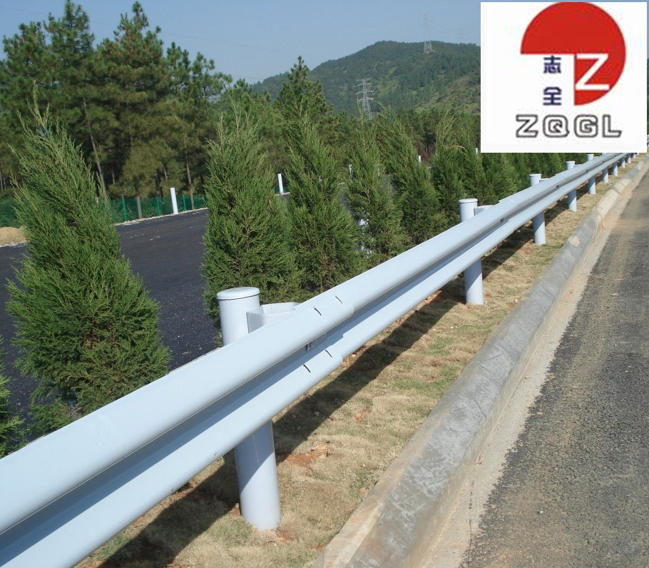 Vehicle crash barrier w beam highway guardrail vehicle guardrails