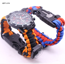 Paracord Bracelet Watch For Outdoor Survival Compass Watch