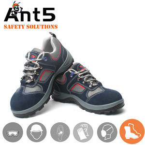 Industrial lightweight leather PU men safety shoes boots