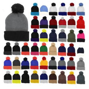 OEM promotional cheap winter Cuff Blank Plain Pom Pom Ski Custom Knitted  100% acrylic Beanie cecdf86dd801
