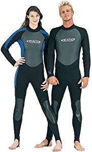 3/2mm Tilos Titanium Skin Chest Full Suit Jumpsuit Wetsuit Mens Black Scuba Dive Diving Surf Surfing Wet Suit