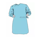 2019 EN13795 Raglan Sleeve Surgical Gown Medical Protective Clothing