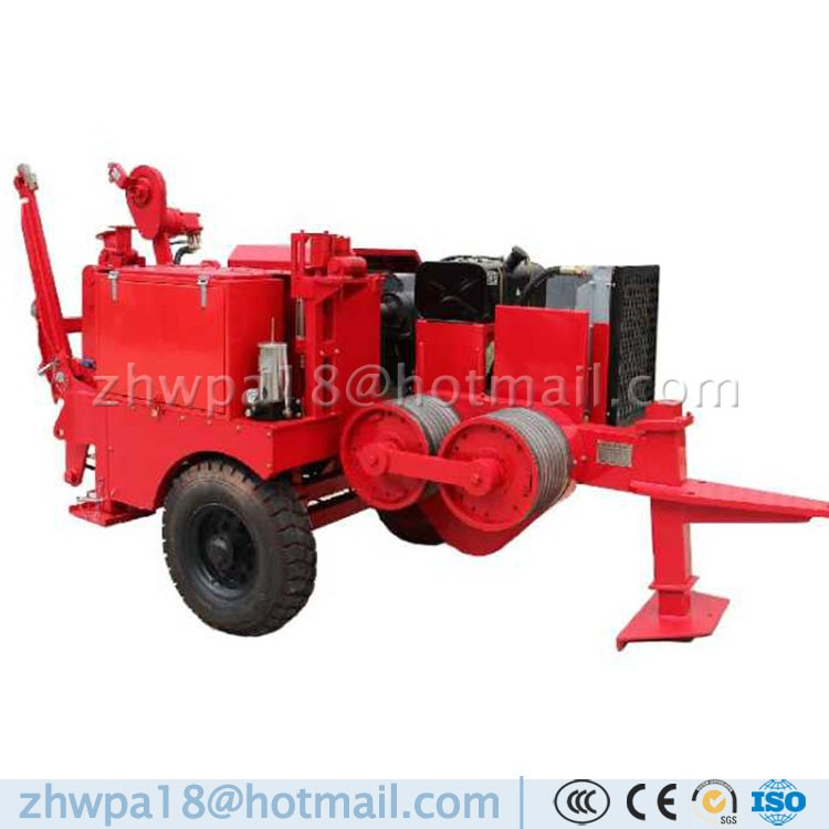 Hydraulic Cable Pulling Machine : Hydraulic cable winch puller laying equipment buy