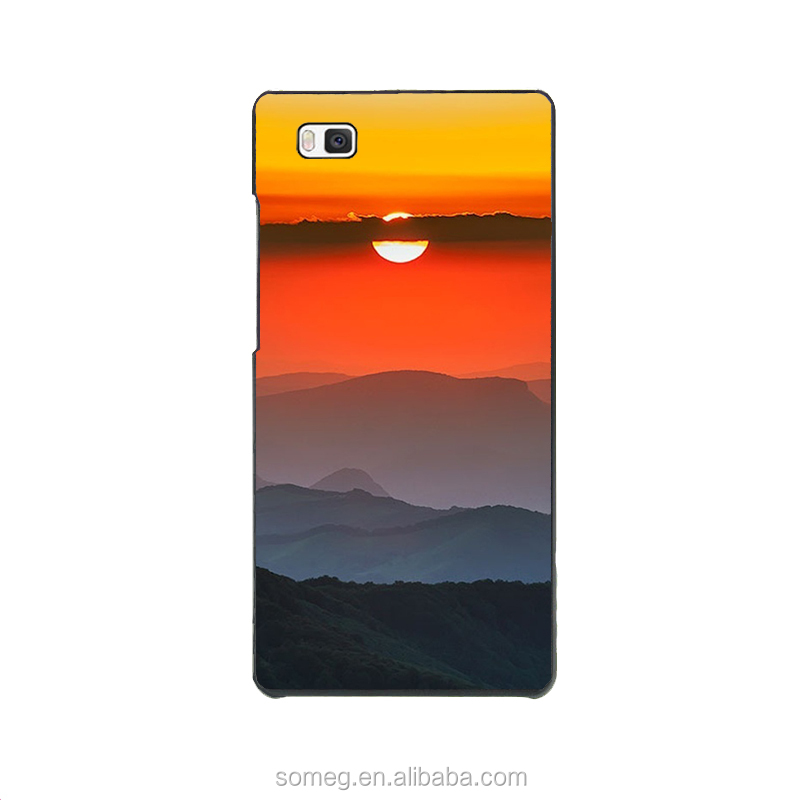 P9+ Hard PC Phone Cover Cases For P9Plus Case Phone Shell The Grass River Mountains Neon Clouds Strange Aura