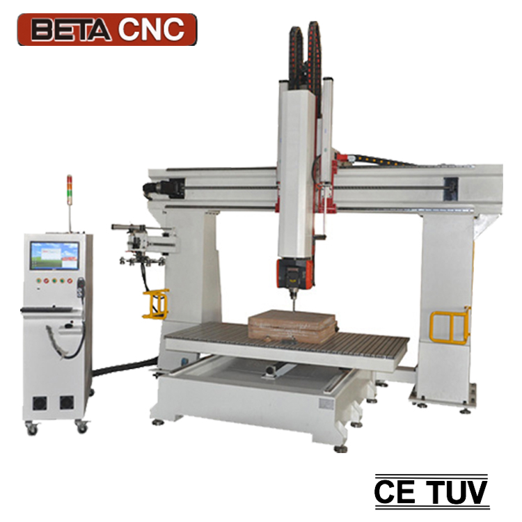 Syntec control 5 axis cnc mill router machine center for wooden model