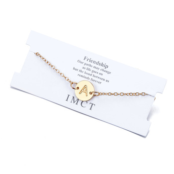 18k gold initial anklet simple 26 letter anklet