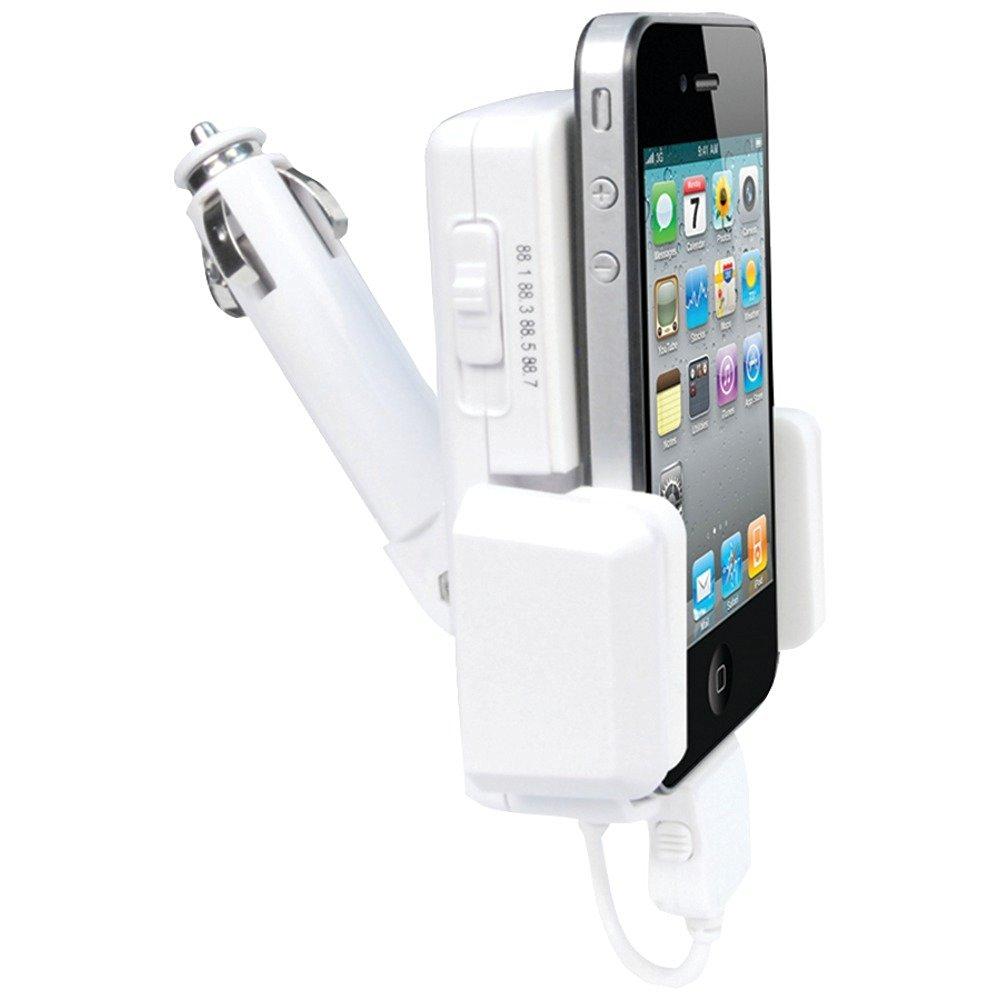 Iessentials Mp-Q88u Ipod(R)/Iphone(R) 3-In-1 Fm Transmitter Cradle