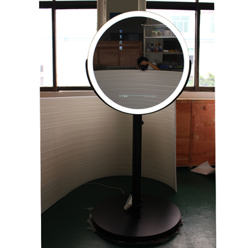 Led Cool White Round Ring Light Mirror Photo Booth Floor Stand