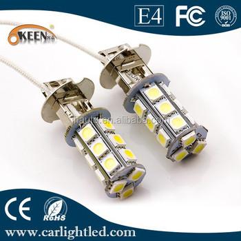 H3 авто светодиодная лампа противотуманных фар 12 в 18 Smd 5050