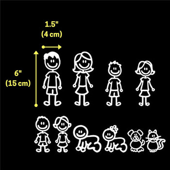 Funny Car Window Dealership Stickers, Family Car Decals Bundle - Parents, Teens, Kids, Infants