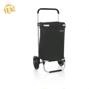 2019 high quality Foldable cheap hand cart folding two wheel shopping trolley