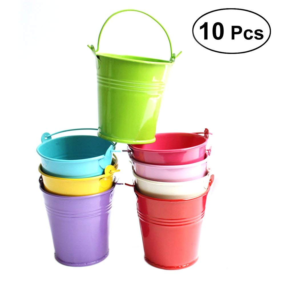Get Quotations Ounona 10pcs Balcony Metal Bucket Flower Hanging Plant Pot Planter Garden Pots Holders 7